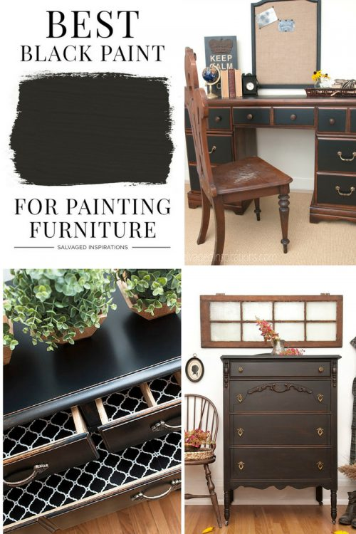 Best Black Paint Furniture Salvaged