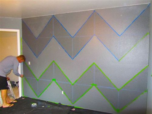 Best Chevron Painted Walls Ideas Pinterest Bedroom