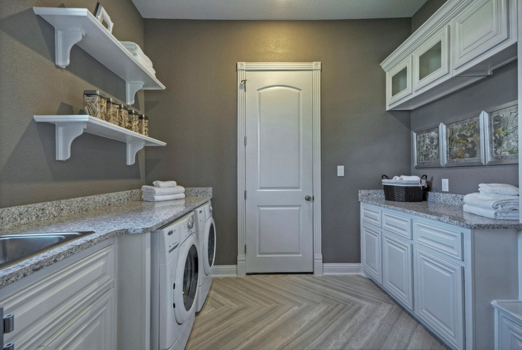 Best Color Combinations Laundry Room Painted Wood Cabinets