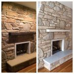Best Painted Rock Fireplaces Ideas Pinterest Stone Fireplace White
