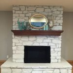 Best Painted Stone Fireplace Ideas Pinterest Rock Fireplaces White