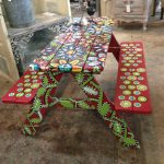 Best Picnic Table Paint Ideas Pinterest Painted