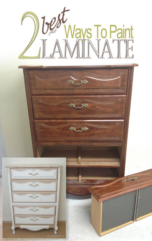 Best Ways Paint Laminate Furniture Salvaged