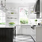 Black White Painted Kitchen Floor Design