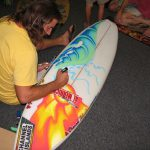 Blank Live Surfboard Painting Mini Art Exhibit Foam Party