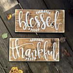 Blessed Sign Thankful Home Decor