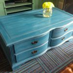 Blue Painted Coffee Table Design