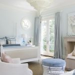 Blue Walls Transitional Bedroom Glidden Westerly Wind Home