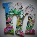 Book Letters Custom Hand Painted Wooden