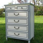 Brave Two Tone Grey White Painted Chest Drawer Added Storage Modern