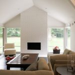 Bring White Brick Fireplace Your Life House Design