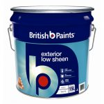 British Paints White Low Sheen Exterior Paint Bunnings