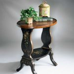 Butler Regal Black Hand Painted Accent Table