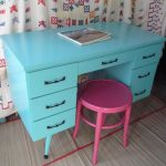 Calypso Retro Desk Vintage Painted Furniture Turquoise