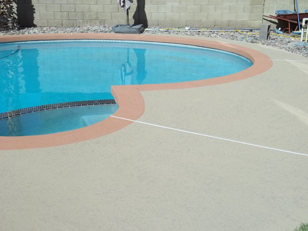 Can Acrylic Lace Texture Applied Over Existing Kool Deck Pool