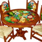 Carved Hand Painted Mexican Table