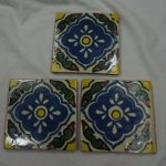 Ceramic Mexican Wall Tile Hand Painted Made Mexico Terracotta Tiles