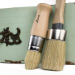 Chalk Paint Brush Set Oval Shaped Pointed Wax Comparable Annie
