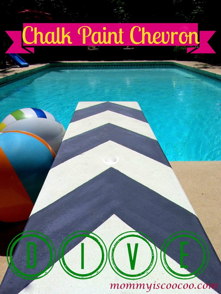 Chalk Paint Chevron Diving Board Life Not Ordinary