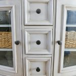 Chalk Paint Dark Wax Buffet Table Makeover Sand