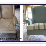 Chalk Paint Leather Purple Painted