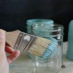 Chalk Paint Mason Jars Dandelion