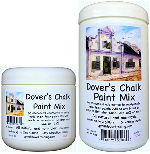 Chalk Paint Mix Dover Transforms Any Brand Color Flat Latex Acrylic
