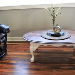Chalk Painted Annie Sloan Oval Coffee Table Stained