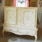 Chalk Painted Cabinet French Gold White Decorating Moldings Intricate Better Bible