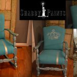 Chalk Painted Fabric Chair Makeover Shabby