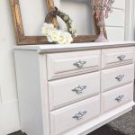 Chalk Painted Furniture White Pink Vintage