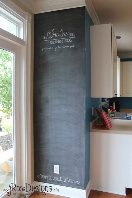 Chalkboard Accent Wall Inspiration Wednesday Project Complete