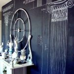 Chalkboard Paint Wall Blue Ribbon