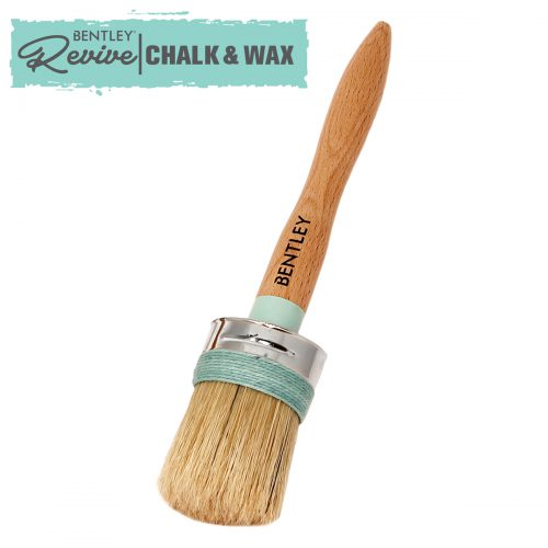 Charles Bentley Set Furniture Chalk Paint Wax Brushes Round Pure Bristle