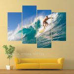 Cheap Paintings Home Decorative Landscape Wall Painting Group Surf Art Paint