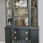China Cabinet Painted Annie Sloan Chalk Paint Graphite French