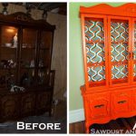 China Cabinet Rescue Retro Orange Variety Cabinets Painted