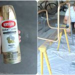 Chrome Chairs Gold Game Table Spray Paint