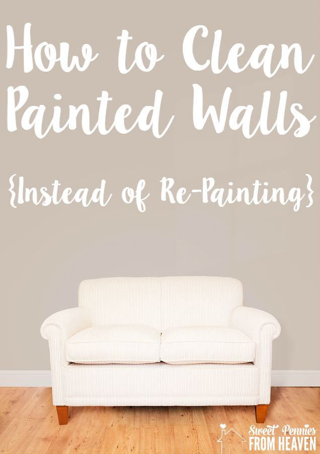 Clean Painted Walls Can Skip
