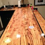 Clear Coat Wood Epoxy Table Tops River Rock Going Through Top Router Out