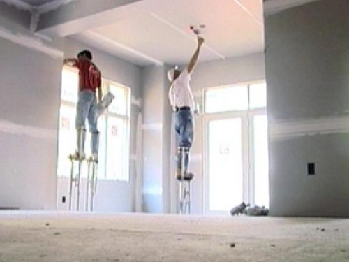 Closing Walls Hanging Drywall
