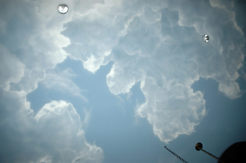 Clouds Ceiling United Propeller Planes Interior One Way Slab