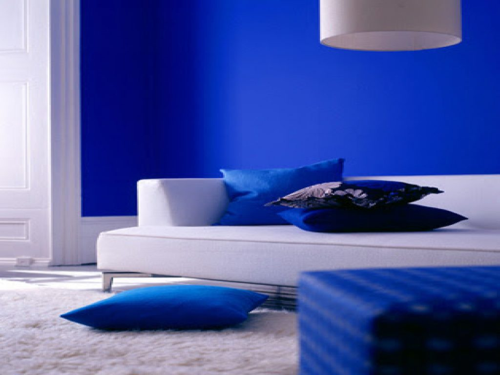 Cobalt Blue Bedroom Wall Paint Royal Color Interior Designs