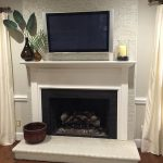 Collected Interior Painted Brick Fireplace Before