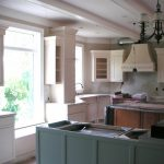 Color Forte Sherwin Williams Quietude Ivory Lace Painted Kitchen