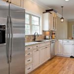 Color Kitchen Cabinets White Appliances