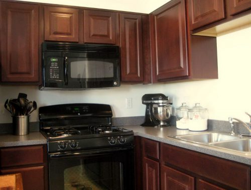 Color Paint Kitchen Cabinets White Appliances Home Design