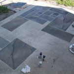 Concrete Patio Faux Slate