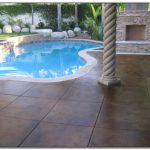 Concrete Paver Pool Deck Decks Home Decorating Ideas