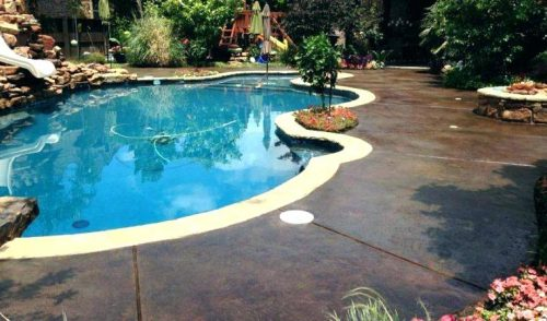 Concrete Pool Deck Paint Ideas Patio